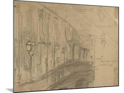Recto: Study of London Bridge for 'London Bridge on the Night of the Marriage of the Prince and Pri-William Holman Hunt-Mounted Giclee Print