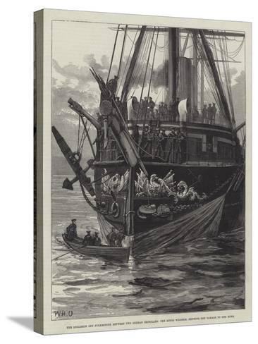 The Collision Off Folkestone Between Two German Ironclads-William Heysham Overend-Stretched Canvas Print