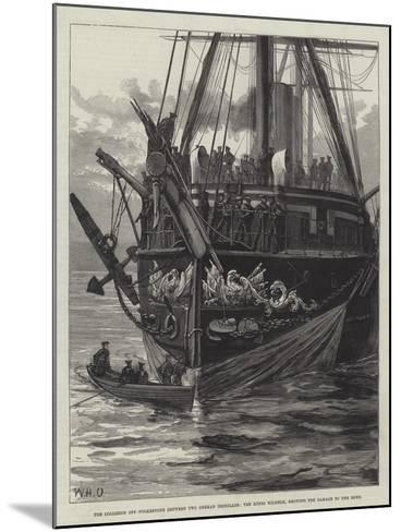 The Collision Off Folkestone Between Two German Ironclads-William Heysham Overend-Mounted Giclee Print