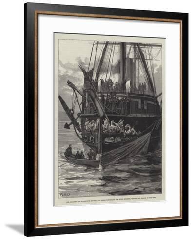 The Collision Off Folkestone Between Two German Ironclads-William Heysham Overend-Framed Art Print