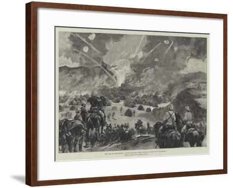 The War in the Soudan, Cavalry Burning Osman Digna's Village and Encampment-William Heysham Overend-Framed Art Print