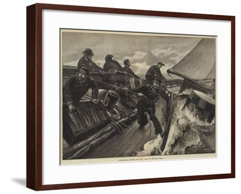 Yacht-Racing, Rounding the Buoy, Haul in the Main Sheet!-William Heysham Overend-Framed Art Print