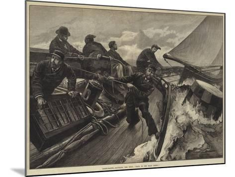 Yacht-Racing, Rounding the Buoy, Haul in the Main Sheet!-William Heysham Overend-Mounted Giclee Print