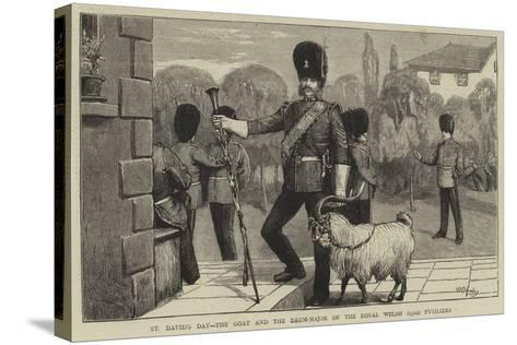 St David's Day, the Goat and the Drum-Major of the Royal Welsh (23Rd) Fusiliers-William III Bromley-Stretched Canvas Print