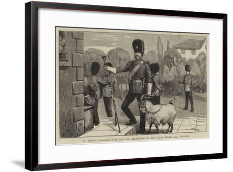 St David's Day, the Goat and the Drum-Major of the Royal Welsh (23Rd) Fusiliers-William III Bromley-Framed Art Print