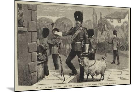 St David's Day, the Goat and the Drum-Major of the Royal Welsh (23Rd) Fusiliers-William III Bromley-Mounted Giclee Print