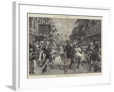 Across Two Oceans, Carnival in Port of Spain, Trinidad-William Heysham Overend-Framed Art Print