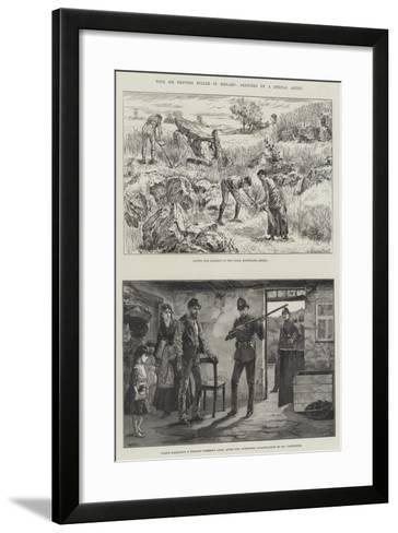 With Sir Redvers Buller in Ireland-William Heysham Overend-Framed Art Print