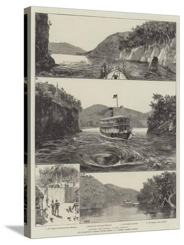 Sketches from Burmah, Up the Chindwin-William Heysham Overend-Stretched Canvas Print