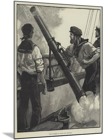 Firing Rockets on Board HMS Monarch-William Heysham Overend-Mounted Giclee Print