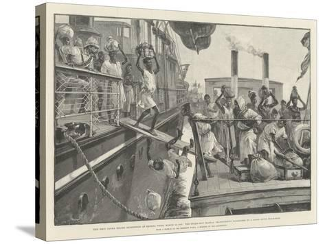 The Emin Pasha Relief Expedition at Banana Point-William Heysham Overend-Stretched Canvas Print