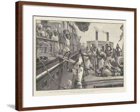 The Emin Pasha Relief Expedition at Banana Point-William Heysham Overend-Framed Art Print
