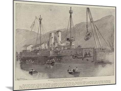 The Chinese Ironclad Battle-Ship Chen-Yuen Undergoing Repairs at Port Arthur-William Heysham Overend-Mounted Giclee Print