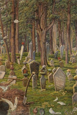 The Sleeping City: the Cemetery of Pera, Constantinople, 1856 - 1888-William Holman Hunt-Stretched Canvas Print