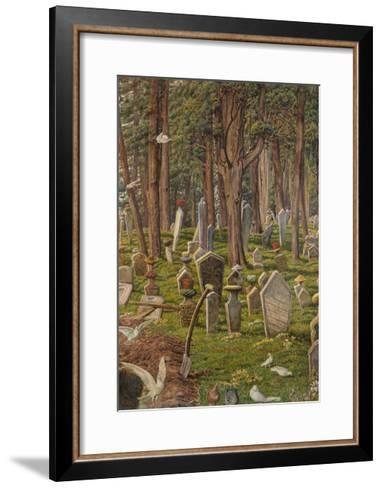 The Sleeping City: the Cemetery of Pera, Constantinople, 1856 - 1888-William Holman Hunt-Framed Art Print