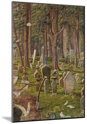 The Sleeping City: the Cemetery of Pera, Constantinople, 1856 - 1888-William Holman Hunt-Mounted Giclee Print
