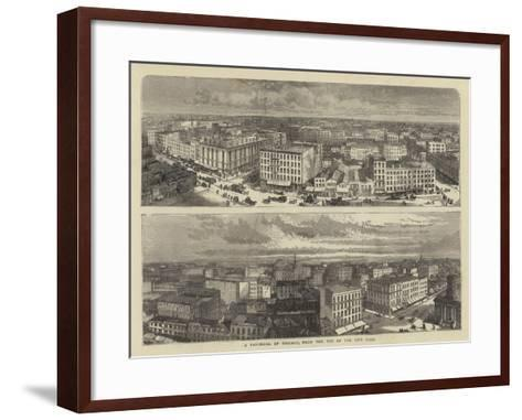 A Panorama of Chicago, from the Top of the City Hall-William Henry James Boot-Framed Art Print