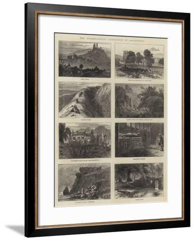 The Archaeological Association in Dorsetshire-William Henry James Boot-Framed Art Print