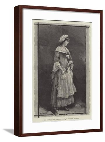 Mrs Langtry, at the Haymarket Theatre, in She Stoops to Conquer-William Heysham Overend-Framed Art Print