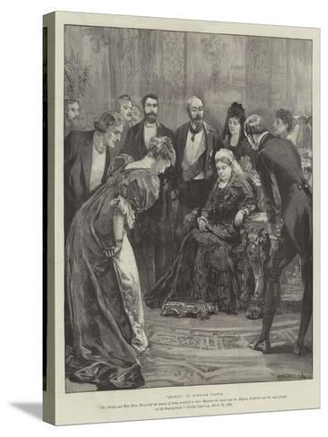 Becket, at Windsor Castle-William Heysham Overend-Stretched Canvas Print