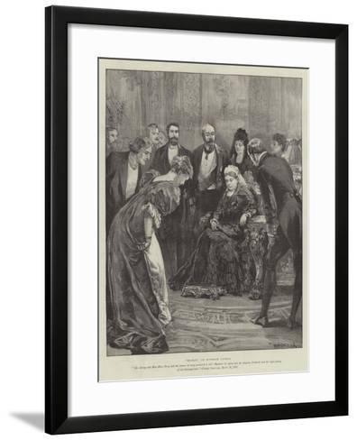 Becket, at Windsor Castle-William Heysham Overend-Framed Art Print