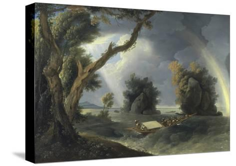 Storm on the Ganges, with Mrs Hastings Near the Colgon Rocks, C.1790-William Hodges-Stretched Canvas Print
