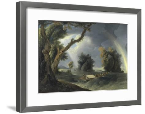 Storm on the Ganges, with Mrs Hastings Near the Colgon Rocks, C.1790-William Hodges-Framed Art Print