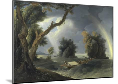 Storm on the Ganges, with Mrs Hastings Near the Colgon Rocks, C.1790-William Hodges-Mounted Giclee Print