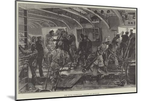 The Naval Manoeuvres, Coaling an Ironclad-William Heysham Overend-Mounted Giclee Print