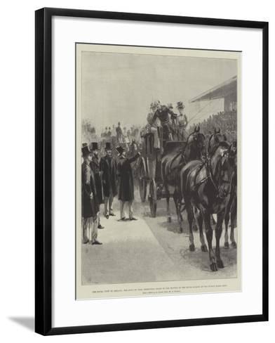 The Royal Visit to Ireland-William Heysham Overend-Framed Art Print