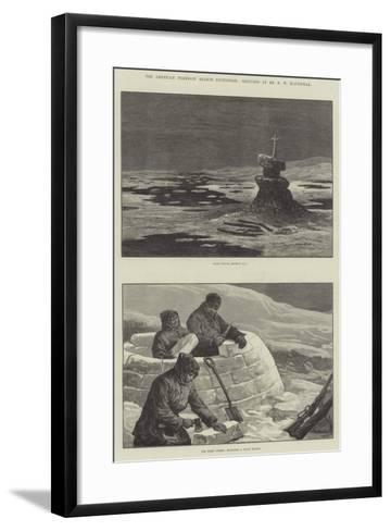 The American Franklin Search Expedition-William Heysham Overend-Framed Art Print