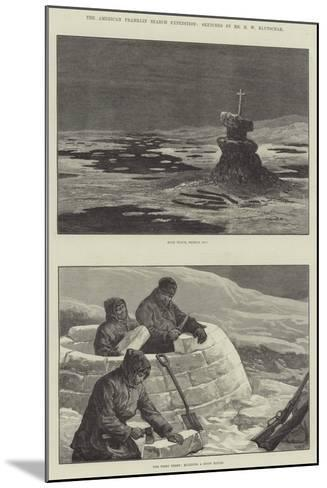 The American Franklin Search Expedition-William Heysham Overend-Mounted Giclee Print