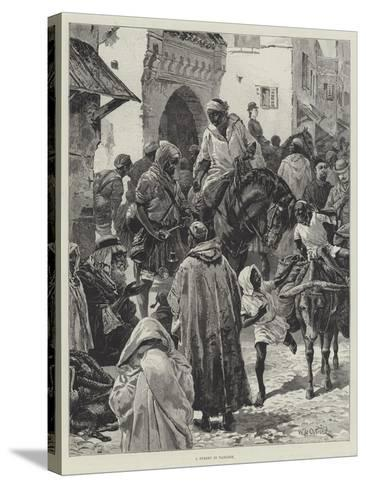 A Street in Tangier-William Heysham Overend-Stretched Canvas Print