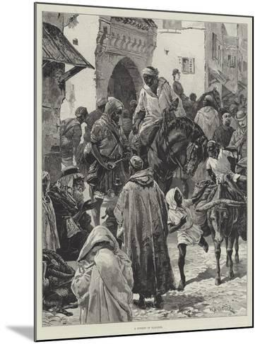 A Street in Tangier-William Heysham Overend-Mounted Giclee Print