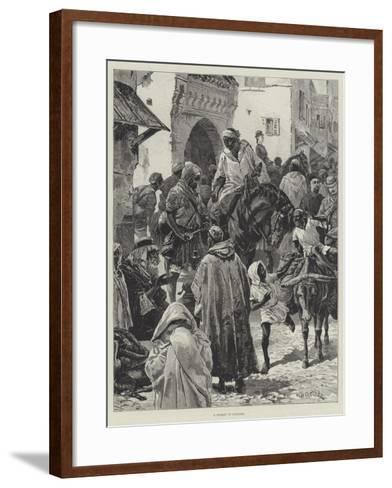 A Street in Tangier-William Heysham Overend-Framed Art Print