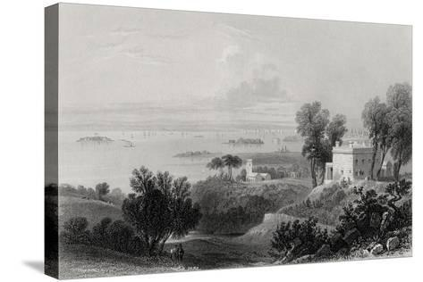 View from Gowanus Heights, Brooklyn-William Henry Bartlett-Stretched Canvas Print