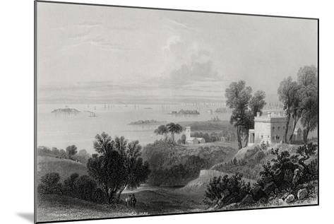 View from Gowanus Heights, Brooklyn-William Henry Bartlett-Mounted Giclee Print