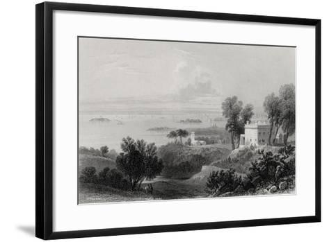 View from Gowanus Heights, Brooklyn-William Henry Bartlett-Framed Art Print