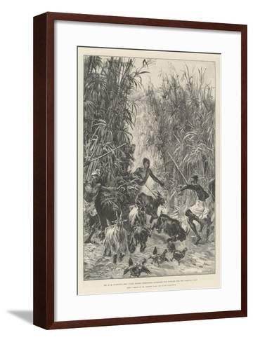 Mr H M Stanley's Emin Pasha Relief Expedition, Foraging for Supplies for the Yambuya Camp-William Heysham Overend-Framed Art Print