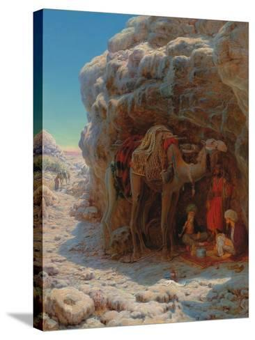 The Shadow of a Rock-William J^ Webbe-Stretched Canvas Print
