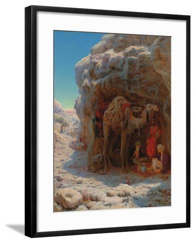 The Shadow of a Rock-William J^ Webbe-Framed Art Print
