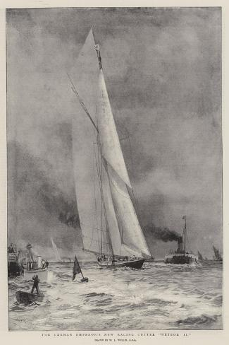 The German Emperor's New Racing Cutter Meteor II-William Lionel Wyllie-Stretched Canvas Print