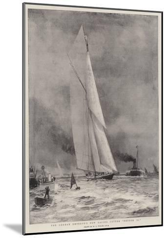 The German Emperor's New Racing Cutter Meteor II-William Lionel Wyllie-Mounted Giclee Print
