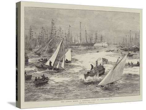 The Cowes Week, a General View of the Regatta-William Lionel Wyllie-Stretched Canvas Print