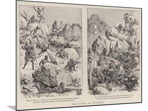 The Rising in Rhodesia-William Ralston-Mounted Giclee Print