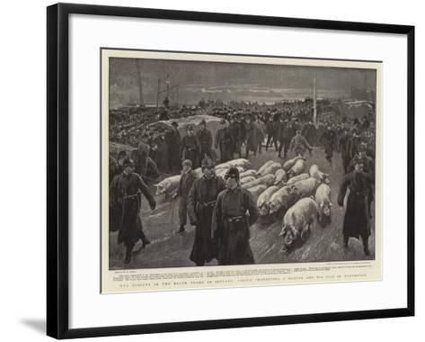 The Dispute in the Bacon Trade in Ireland, Police Protecting a Drover and His Pigs in Waterford-William Small-Framed Art Print