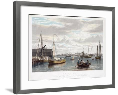 Boston, from the Ship House, West End of the Navy Yard, C.1833-William James Bennett-Framed Art Print