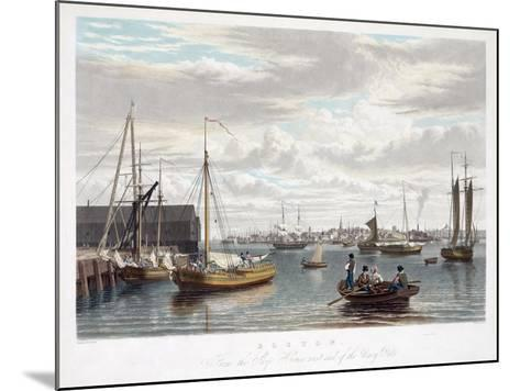 Boston, from the Ship House, West End of the Navy Yard, C.1833-William James Bennett-Mounted Giclee Print