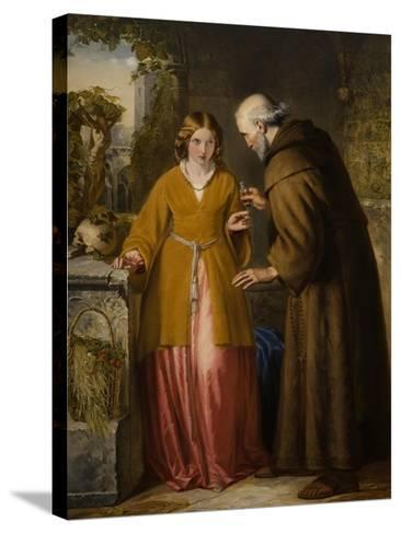 Juliet and the Friar 'Take Thou This Phial'-William James Grant-Stretched Canvas Print