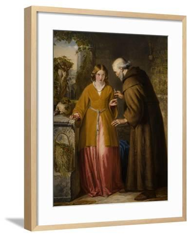 Juliet and the Friar 'Take Thou This Phial'-William James Grant-Framed Art Print